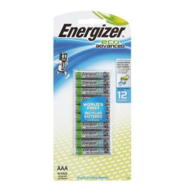 ENERGIZER BATTERIES ECO ADVANCED AAA 10 PACK