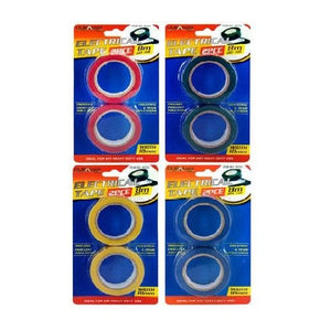 ELECTRICAL TAPE 2PK 8M - COLOURED