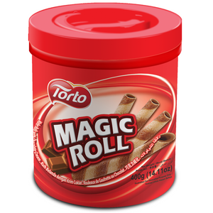 TORTO MAGIC ROLLS CHOC WAFER 400G X 12