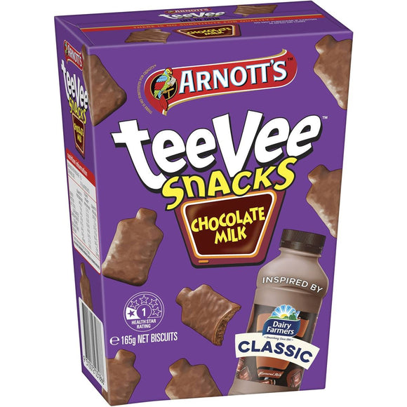 TEEVEE SNACKS DAIRY FARM CHOC MILK 165G X 12