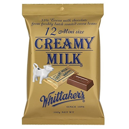 WHITTAKER'S MINI SIZE MILK 180G X12