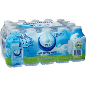 NU PURE SPRING WATER 250ML X 20