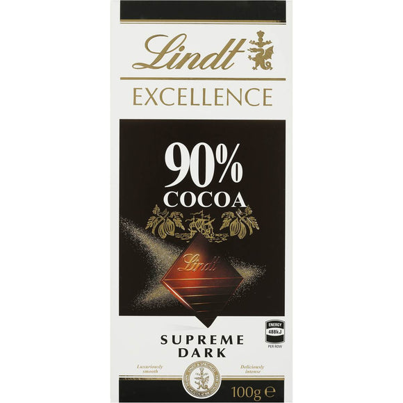 LINDT EXCELLENCE 90% 100G X 20