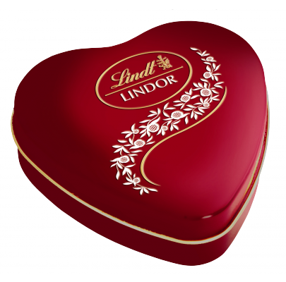LINDT HEART TIN 147G X 5
