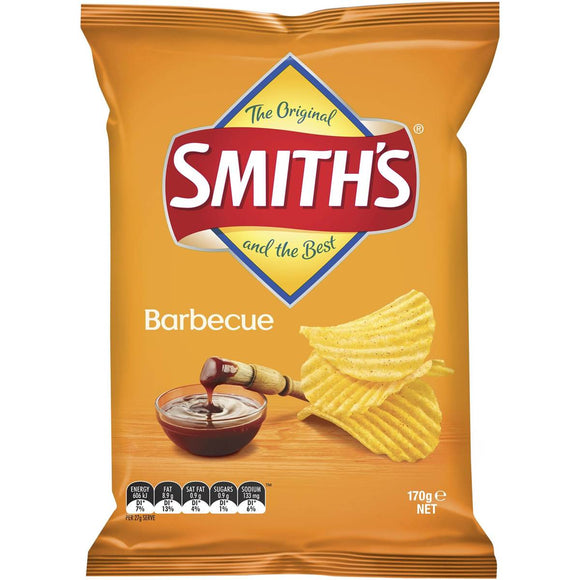 SMITHS CRINKLE BARBECUE 170G X 12