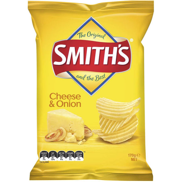 SMITHS CRINKLE CHEESE & ONION 170G X 12