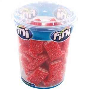 FINI CUPS FIZZY STRAWBERRY BRICKS 180G X 12