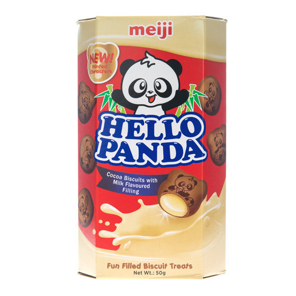 HELLO PANDA COCOA BISCUIT WITH MILK FILLING 50G X 10