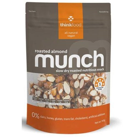 MUNCH ROASTED ALMOND 140G X 6