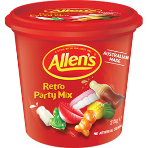 ALLEN'S RETRO PARTY MIX TRAVEL CUPS 12 X 215G
