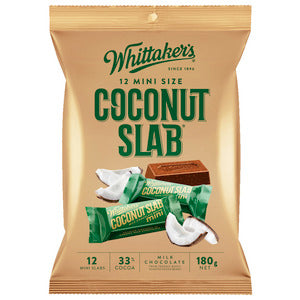 WHITTAKER'S MINI SIZE COCONUT SLAB 180G X12