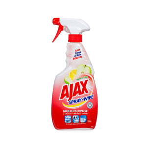 AJAX SPRAY N WIPE APPLE & CITRUS 500ML X 8