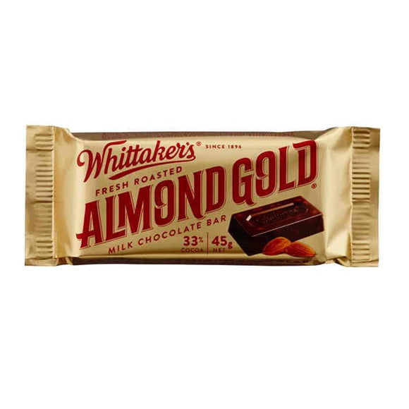 WHITTAKER'S BAR ALMOND GOLD 45G X 50