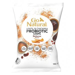 GO NATURAL PROBIOTIC CHIPS BBQ 100G X 5