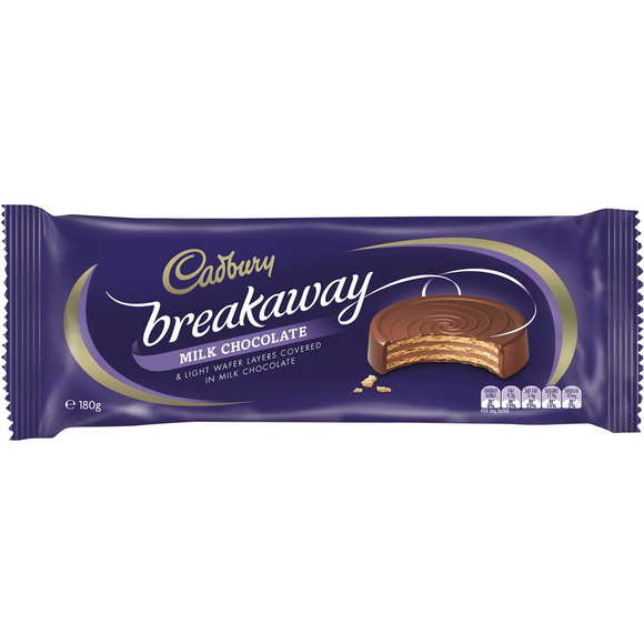 BREAKAWAY MILK CHOCOLATE 180G X14
