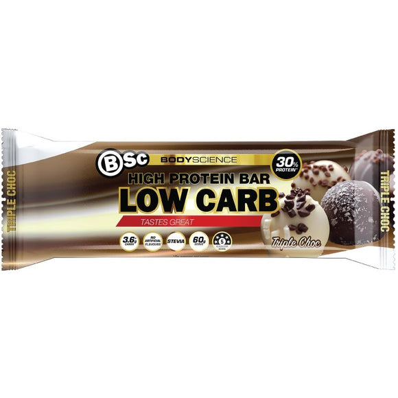 BSC HIGH PROTEIN BAR TRIPLE CHOC 60G X 12