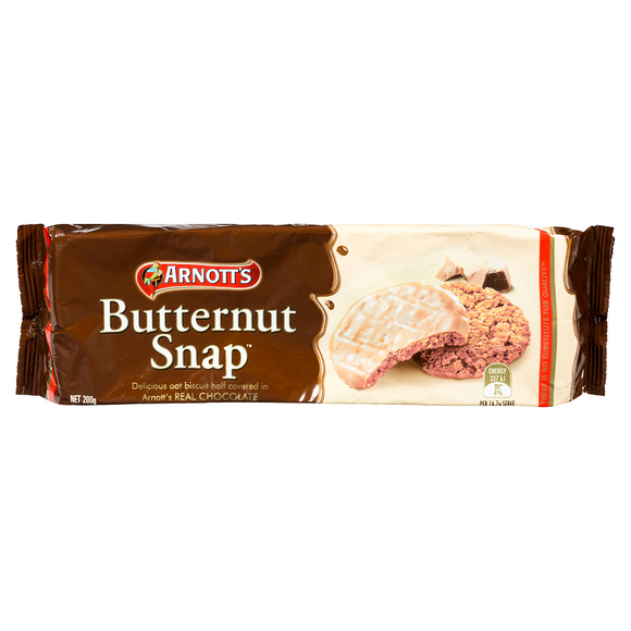 ARNOTT'S BUTTERNUT SNAP CHOCOLATE 200G X 16