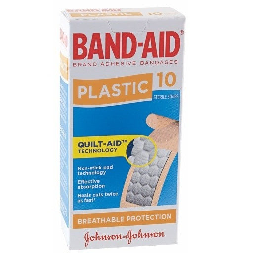 BAND-AID BRAND PLASTIC STRIPS 10'S X 6