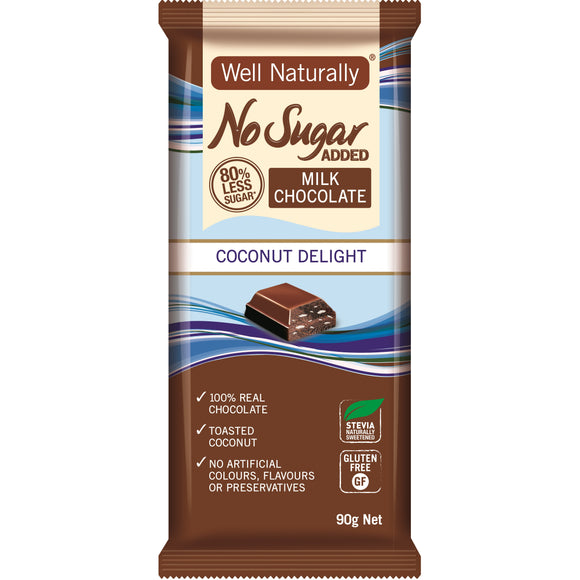 WELL NATURALLY DARK COCONUT DELIGHT 90G X 12