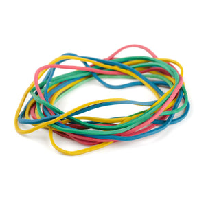 COLOURED RUBBER BAND X 70`S