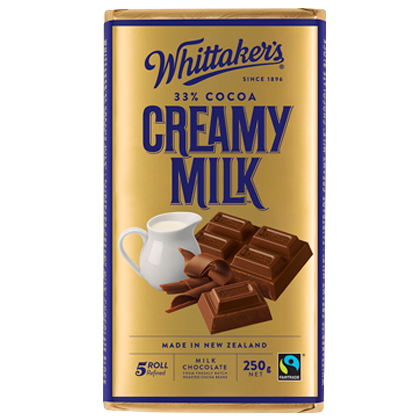 WHITTAKER'S BLOCK CREAMY MILK 250G X 12