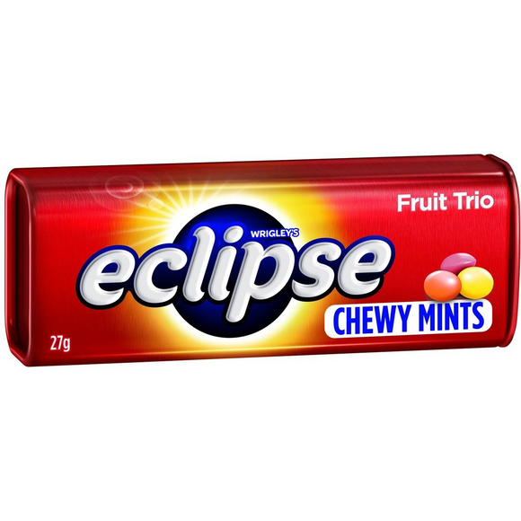 ECLIPSE CHEWY MINTS FRUIT TRIO 27G X 20