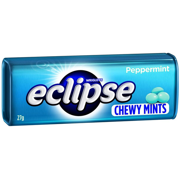 ECLIPSE CHEWY MINTS PEPPERMINT 27G X 20