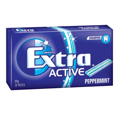 EXTRA ACTIVE PEPPERMINT 27G X 2 X 12