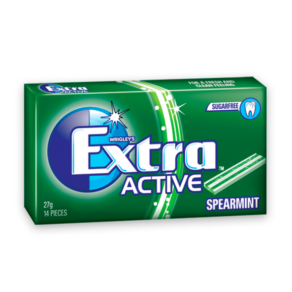 EXTRA ACTIVE SPEARMINT 27G X 2 X 12