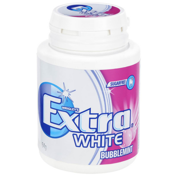EXTRA BOTTLE WHITE BUBBLEMINT 64G X 6