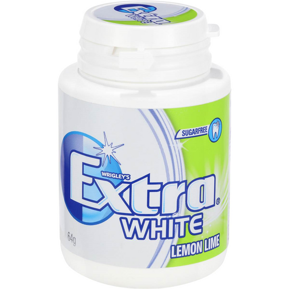 EXTRA BOTTLE WHITE LEMON LIME 64G X 6