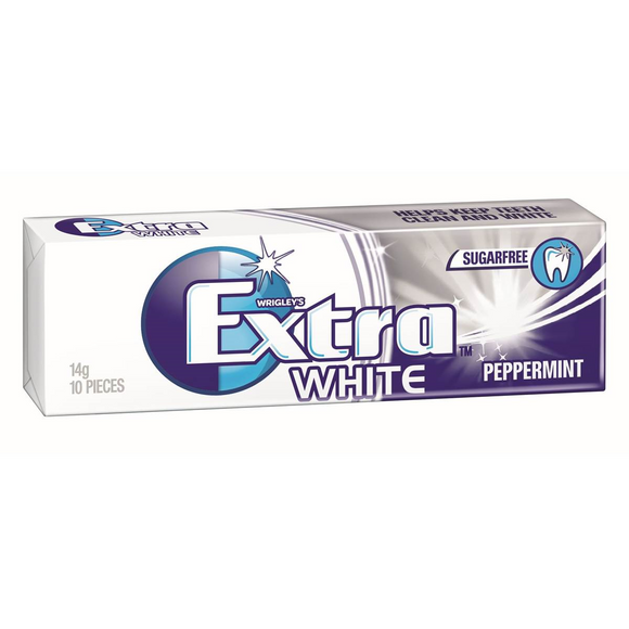 EXTRA PELLET WHITE PEPPERMINT 14G X 30