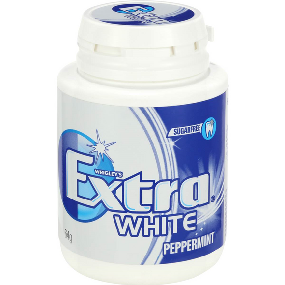 EXTRA BOTTLE WHITE PEPPERMINT 64G X 6