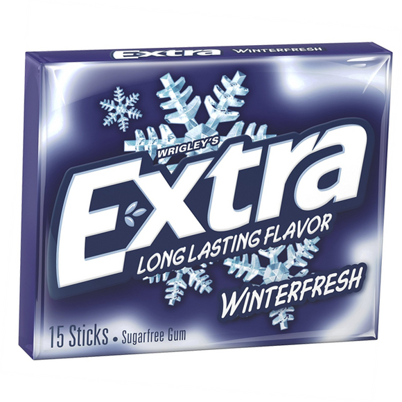 EXTRA WINTERFRESH 15 STICKS X10