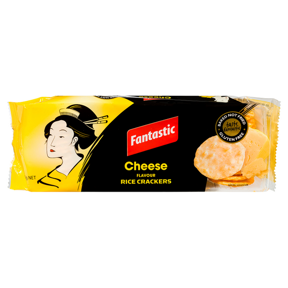 FANTASTIC RICE CRACKERS CHEESE 100G X12