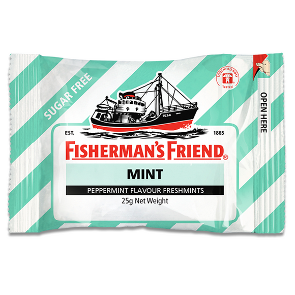 FISHERMAN'S FRIEND PEPPERMINT SUGAR FREE 25G X12