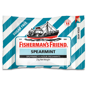 FISHERMAN'S FRIEND SPEARMINT SUGAR FREE 25G X12