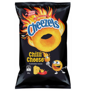CHEEZELS CHILLI CHEESE 80G X 12
