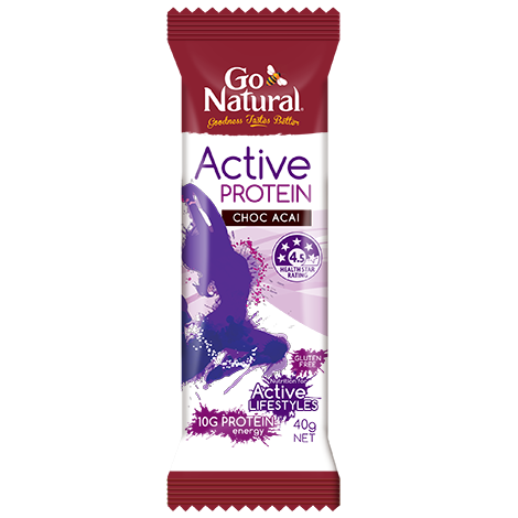 GO NATURAL ACTIVE PROTEIN CHOC ACAI 40G X 16