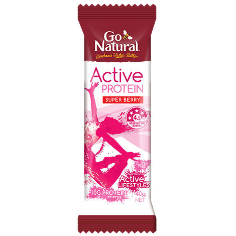 GO NATURAL ACTIVE PROTEIN SUPER BERRY 40G X 16
