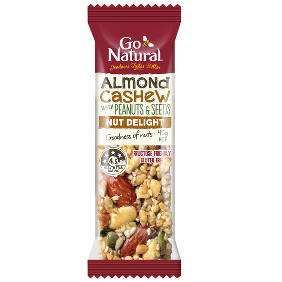 GO NATURAL ALMOND & CASHEW 45G X 16