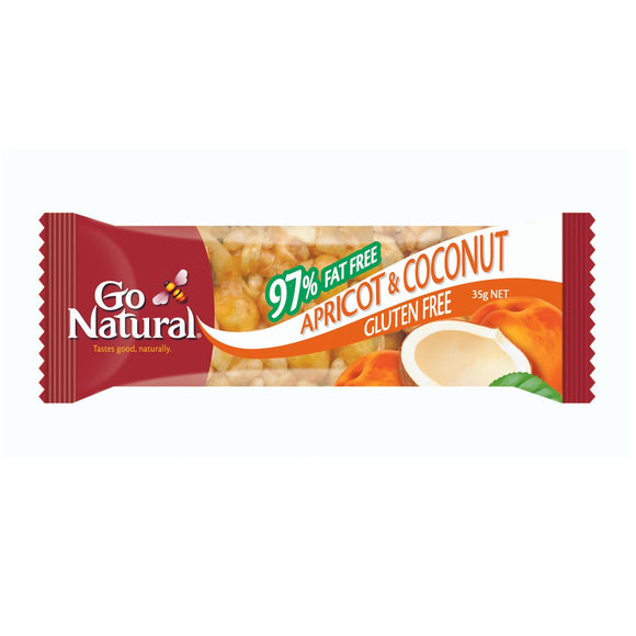 GO NATURAL APRICOT & COCONUT 35G X 12
