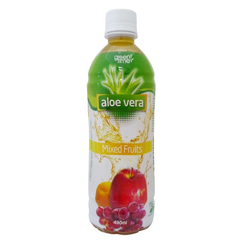 GREEN TIME ALOE VERA MIXED FRUIT 490ML X 24