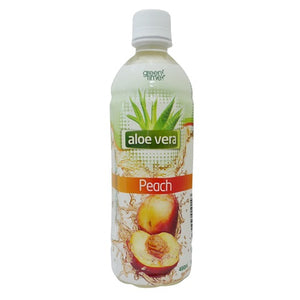 GREEN TIME ALOE VERA PEACH 490ML X 24