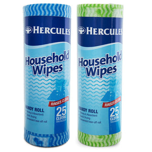 HERCULES HOUSEHOLD WIPES 25PK X 12