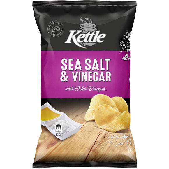 KETTLE SEA SALT & VINEGAR 175G X 12