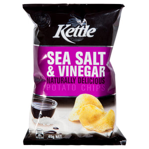 KETTLE SEA SALT & VINEGAR 45G X 18