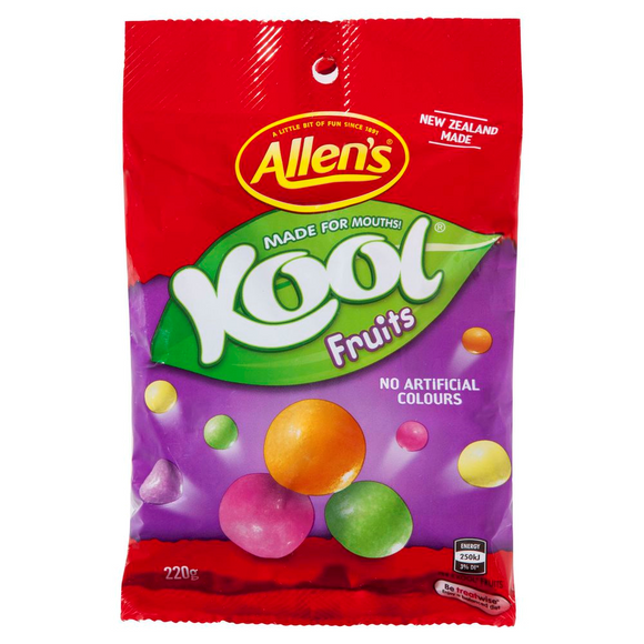 ALLEN'S KOOL FRUITS 220G X 12