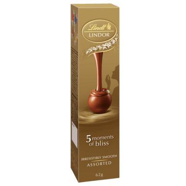 LINDOR 5 PACK ASSORTED 62G X 15