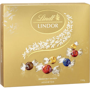 LINDOR GIFT BOX ASSORTED BALLS 150G X 6